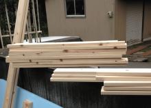 手作り犬小屋木材