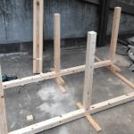 柴犬の犬小屋作り