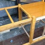 手作り犬小屋塗装
